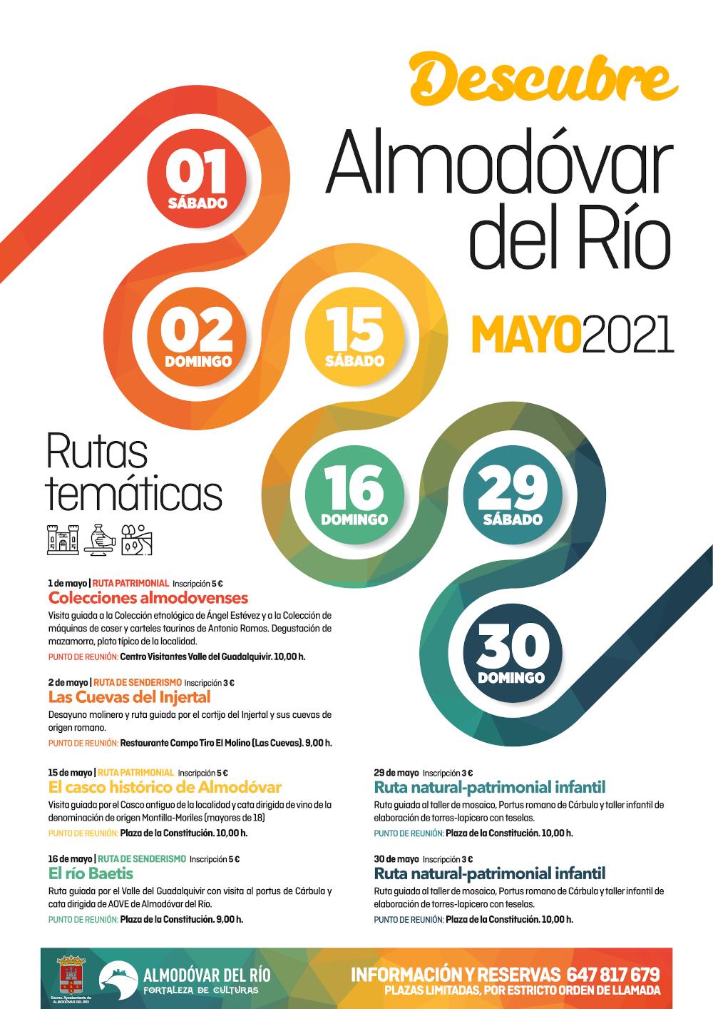 Rutas temáticas mayo 2021